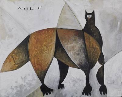 Animalia Hunting Fox  Poster by Mark M  Mellon