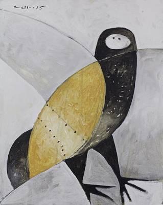 Animalia Sitting Owl  Poster by Mark M  Mellon