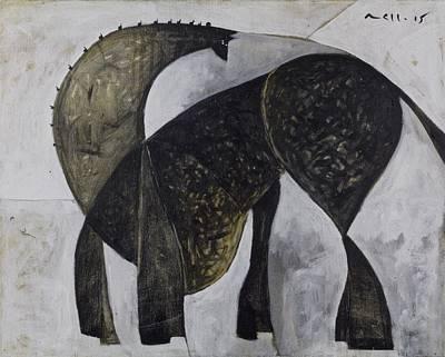 Animalia Standing Horse  Poster