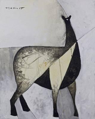 Animalia Standing Llama  Poster by Mark M  Mellon
