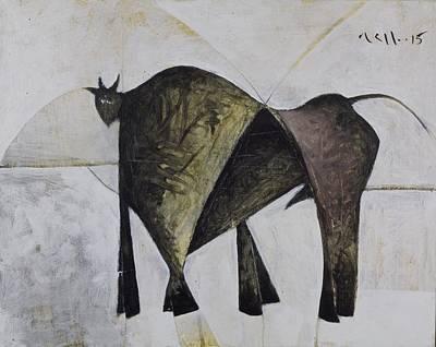 Animalia Walking Bull Poster by Mark M  Mellon