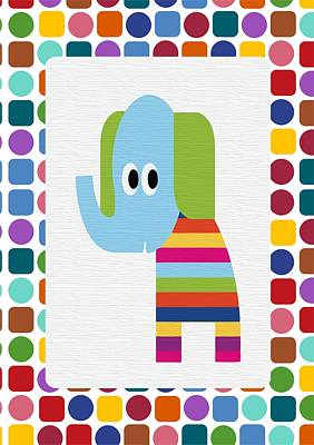 Animals Whimsical 8 Poster by Angelina Vick