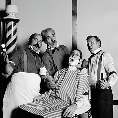 Animated Barbershop Quartet Singing Poster