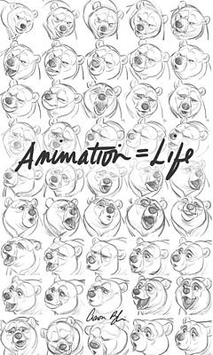 Poster featuring the digital art Animation  Life by Aaron Blaise