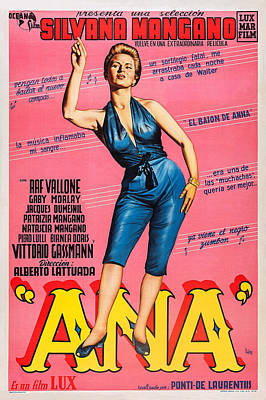 Anna, Aka Ana, Silvana Mangano Poster