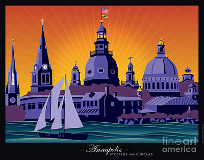 Annapolis Steeples And Cupolas Poster