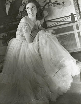 Anne Bullitt Wearing A Tulle Gown Poster