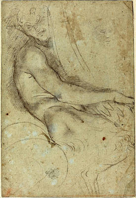 Annibale Carracci, Italian 1560-1609, Satyr Holding Poster by Litz Collection