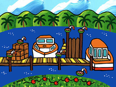 Annie's Dock - Cedar Key Poster