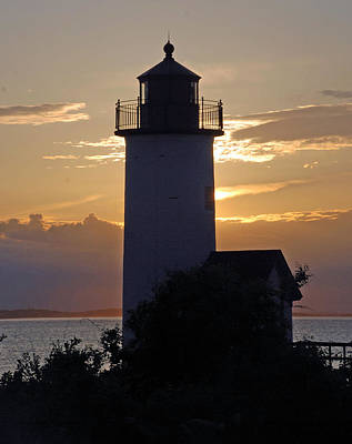 Annisquam Lighthouse Sunset Poster