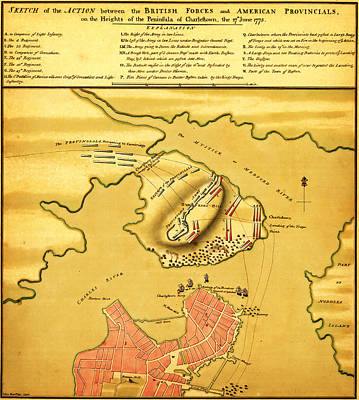 Anniversary Of The Battle Of Bunker Hill 1776 Poster