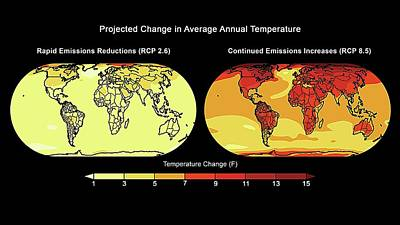Annual Temperature Change Poster by Lawrence Berkeley National Laboratory