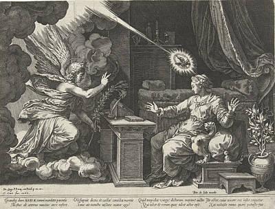 Annunciation, Cornelis Cort, Unknown, Pieter De Jode Poster by Cornelis Cort And Pieter De Jode (i)