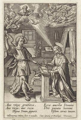 Annunciation, Hieronymus Wierix Poster