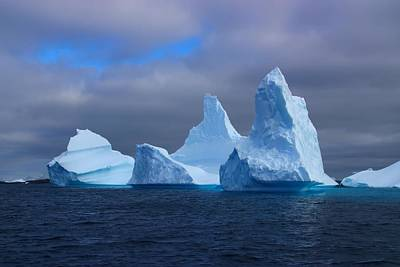 Antarctic Iceberg 3 Poster by FireFlux Studios