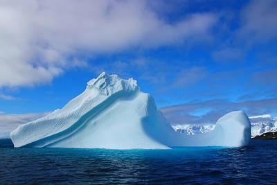 Antarctic Iceberg Poster by FireFlux Studios