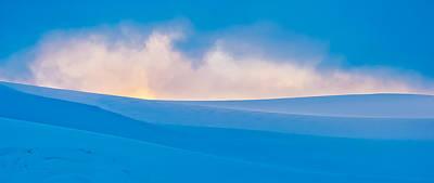 Antarctic Mist - Antarctica Sunset Photograph Poster