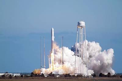 Antares Rocket Test Flight Launch Poster by Nasa/bill Ingalls