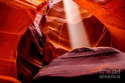 Antelope Canyon Beam Poster by Az Jackson