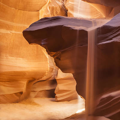 Antelope Canyon Pouring Sand Poster by Melanie Viola