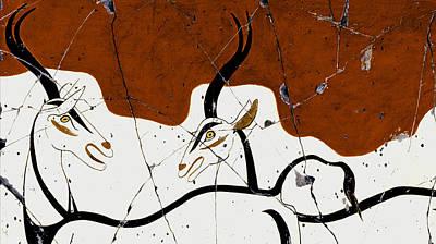 Antelope Of Akrotiri Study No. 1 Poster by Steve Bogdanoff