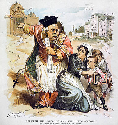 Anti-catholic Cartoon, 1889 Poster