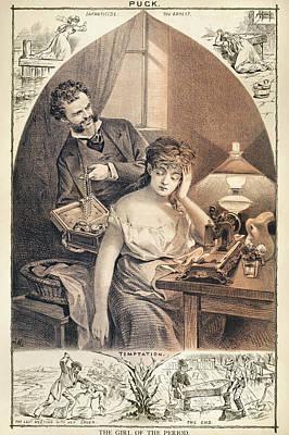 Anti-feminist Cartoon, 1878 Poster