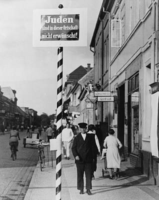 Anti-semitic Message In A Schwedt Poster