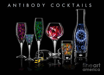 Poster featuring the digital art Antibody Cocktails by Megan Dirsa-DuBois
