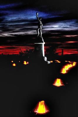 Antietam Memorial Illumination - 3rd Pennsylvania Volunteer Infantry Sunset Poster by Michael Mazaika