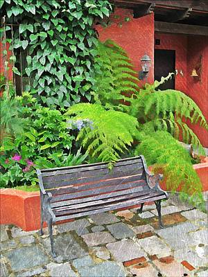 Antigua Bench Poster by Maria Huntley