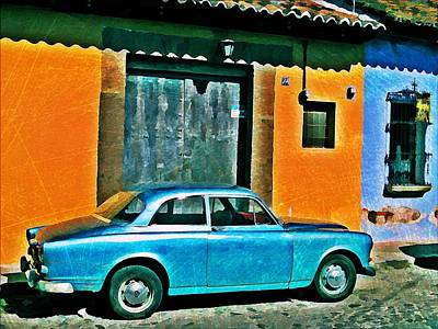 Antigua Volvo Poster by Maria Huntley