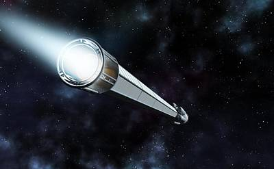 Antimatter Spaceship, Artwork Poster by Science Photo Library