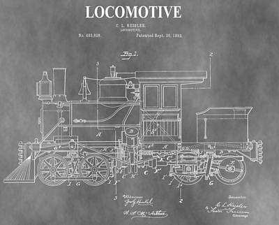 Antique 1892 Train Patent Poster