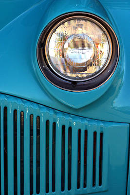Antique Automobile Headlamp Poster by Carol Leigh