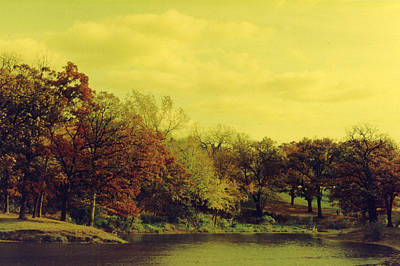 Antique Autumn Poster by Julia and David Bowman