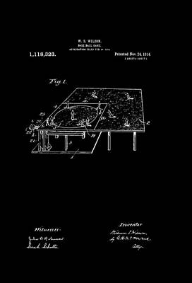 Antique Baseball Game Patent Poster