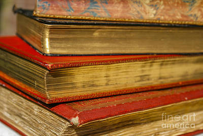 Antique Books With Golden Coating Poster by Patricia Hofmeester