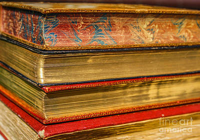 Antique Books With Golden Pages Poster by Patricia Hofmeester
