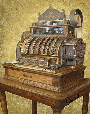 Antique Cash Register Poster