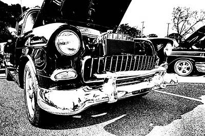 Antique Chevy Car At Car Show Poster
