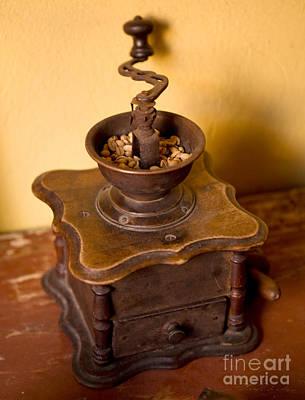 Antique Coffee Grinder Poster by Iris Richardson
