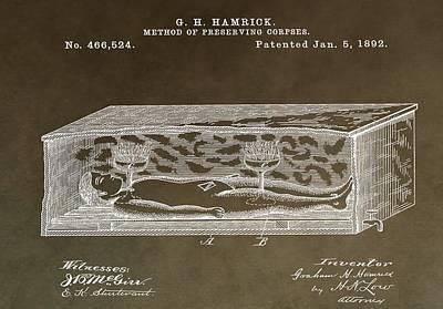 Antique Coffin Patent Poster