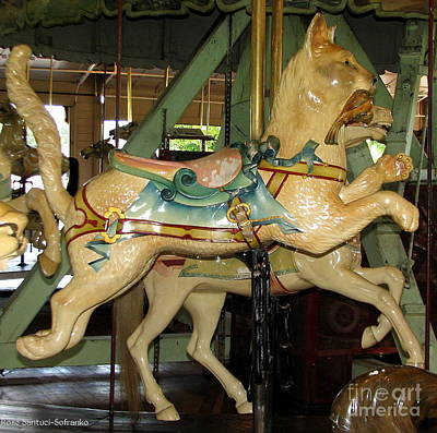 Antique Dentzel Menagerie Carousel Cat Poster