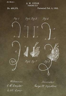 Antique Fishing Fly Patent Poster by Dan Sproul