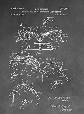 Antique Football Pads Patent Poster by Dan Sproul