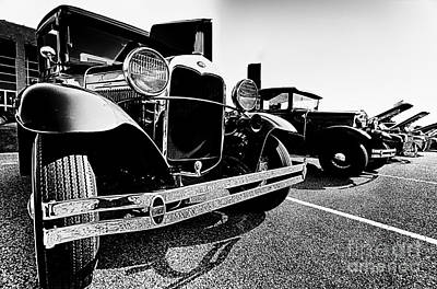 Antique Ford Car At Car Show Poster