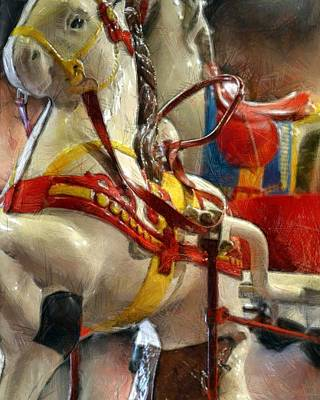 Antique Horse Cart Poster by Michelle Calkins