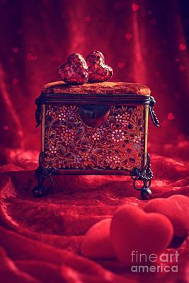 Antique Jewel Casket Poster by Amanda Elwell