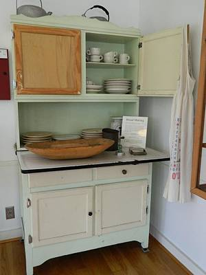 Antique Kitchen Cabinet Poster by George Pedro